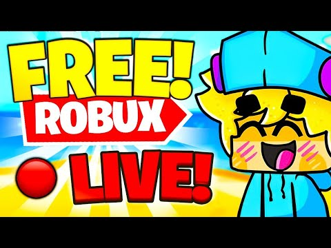 🔴FREE ROBUX GIVEAWAY IN ROBLOX LIVE! HOW TO GET FREE ROBUX! (ROBLOX LIVE) thumbnail