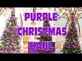 PURPLE CHRISTMAS DECOR HAUL - DECORATING IN THE WORKPLACE