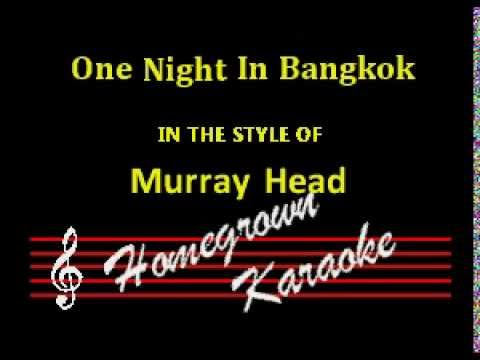 Murray Head-One Night In Bangkok Karaoke