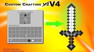 Custom Crafting V4: Easily Add New Recipes Without Coding [minecraft 1.8]
