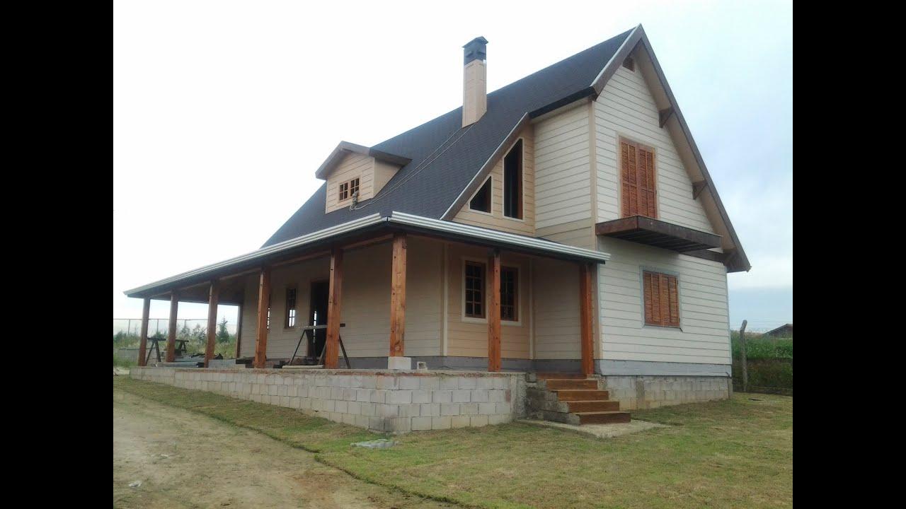 Casa estilo chal em steel frame artur nogueira youtube - Casas steel framing ...