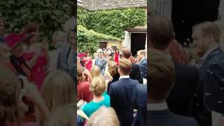 Andrew Greenwood wedding walk out of chapel