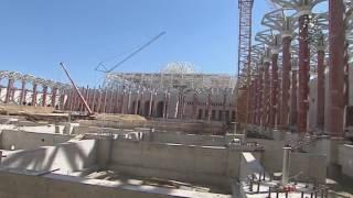جامع الجزائر انتهاء الأشغال الكبرى من المئذنة