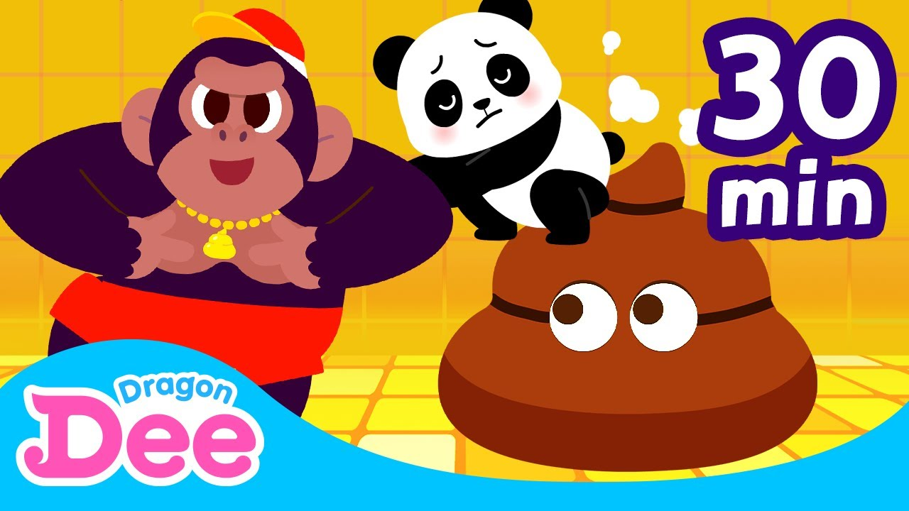 Animal Poo Poo song BEST Compilation | Animal Star | Dragon Dee Songs for Children