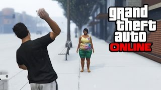 GTA 5 - Killing People with Snowballs! Yes, it