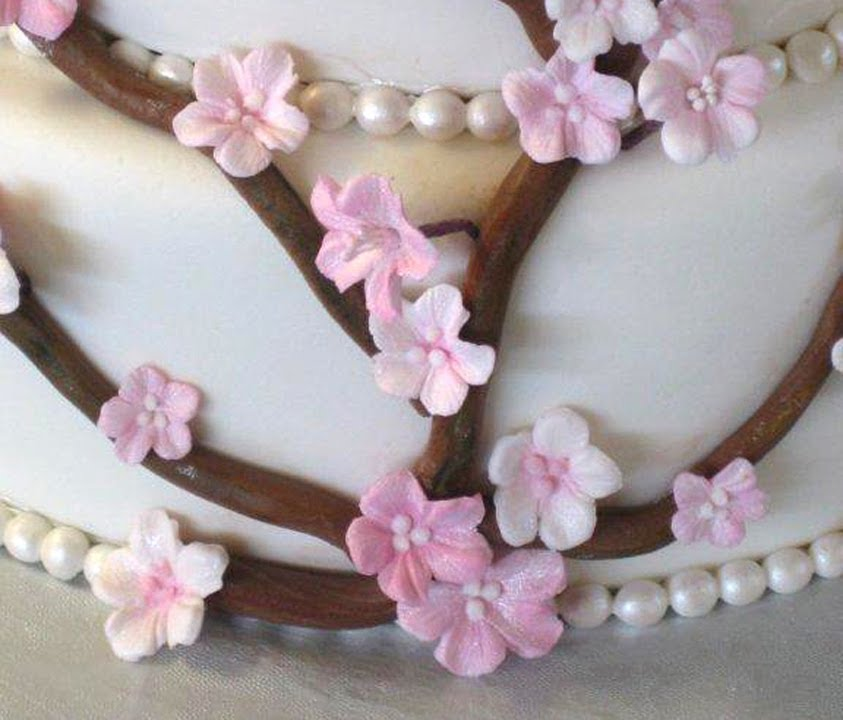 how to make gumpaste cherry blossomsthe easy waypart 1