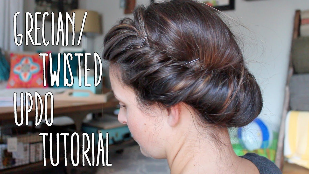 Hair tutorial greciantwisted updo ft a headband youtube hair tutorial greciantwisted updo ft a headband solutioingenieria Gallery