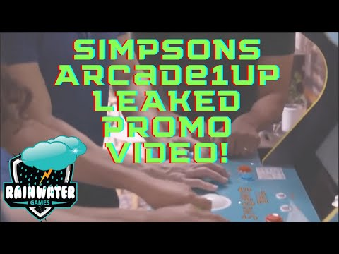 Simpsons Arcade1up video promo leak | pre-orders for Simpsons from Rainwater Games