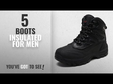 Top 10 Boots Insulated [ Winter 2018 ]: arctiv8 Men's Nortiv8 161202-M Black Insulated Waterproof