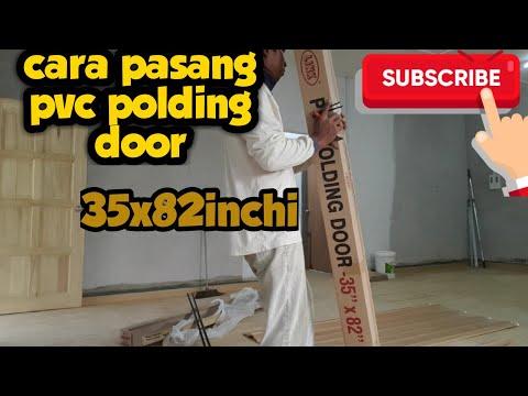 Diy Pasang Pintu Pvc Lipat Untuk Bilik Air Dan Tandas Youtube