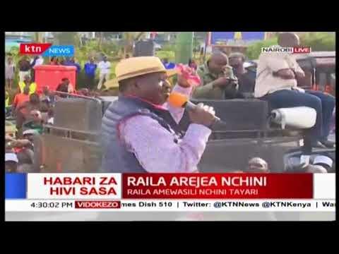 """""""mimi nina hasira mingi sana na huyu Uhuru Kenyatta"""" Raila Odinga"""