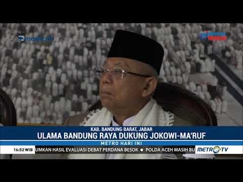 Ulama Bandung Raya Dukung Jokowi-Ma'ruf
