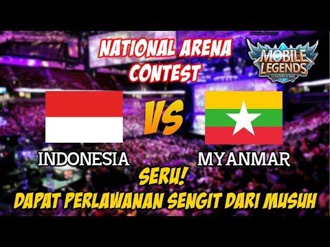 SERU !!! Team Indonesia Dapat Perlawanan Sengit Dari Team Myanmar National Arena Contest