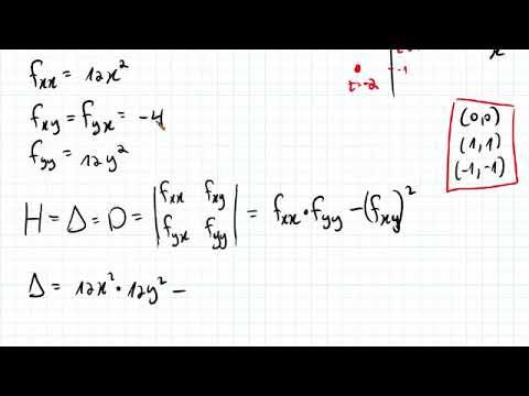 6-30 - פונקציות מרובות משתנים - נקודות קיצון ואוכף