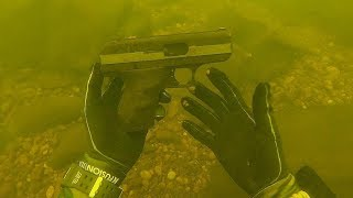Found a Cheap Hi-Point Pistol Underwater While Scuba Diving! (Police Called)