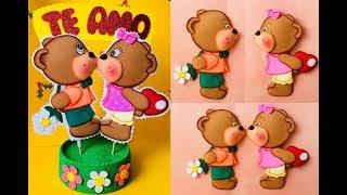 Ositos Amorosos paso a paso - Craft DIY manualidad San Valentín en foamy/goma eva/microporoso