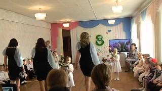 """Танец с мамами """"Мама- роза моя"""" танцевальная композиция в детском саду"""