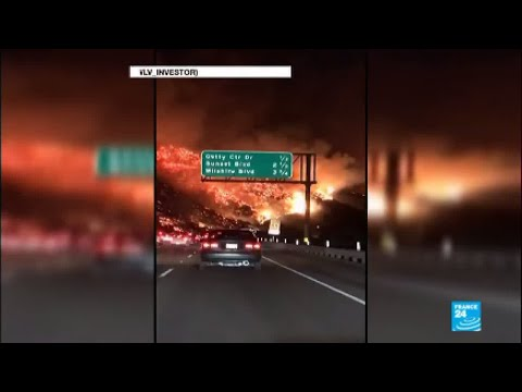 California: Four wildfires rage in the Los Angeles area