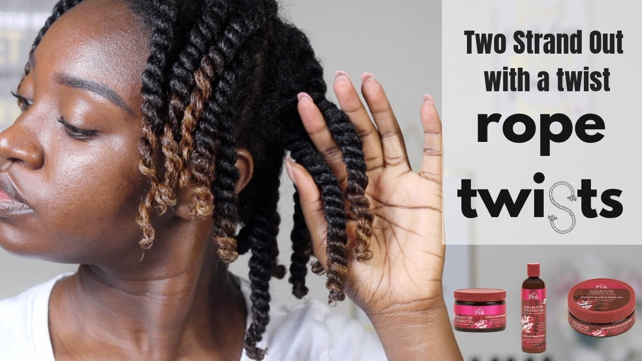 ROPE Twist Out | Luster's Pink Shea Butter Coconut Oil