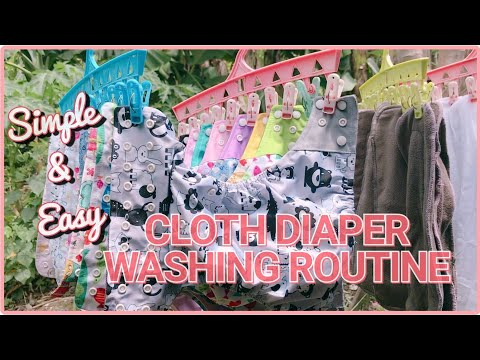 CLOTH DIAPER 101: HOW TO WASH CLOTH DIAPERS | Step By Step Guide (TAGLISH)
