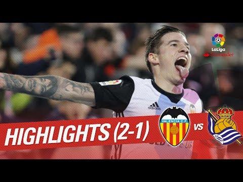 Resumen de Valencia CF vs Real Sociedad (2-1)