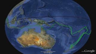 My planned sailing circumnavigation (with music)