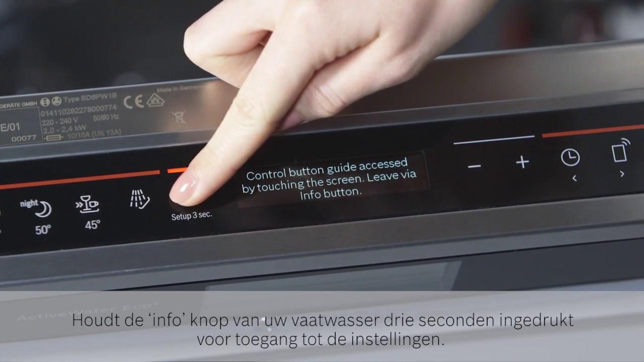 Vaatwasser Met Wifi : Bosch inbouw vaatwassers met homeconnect wifi youtube