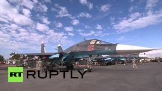 Syria: Su-34s armed with air-to-air missiles in Latakia
