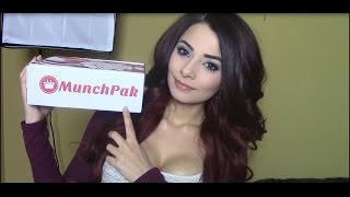 ASMR Munchpak Unboxing & Review (Eating & Crinkly Sounds, Soft Spoken)