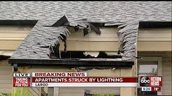 Bal Harbour Apartments in Largo evacuated after lightning strike, fire