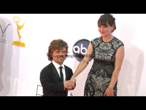 Peter Dinklage with wife Erica Schmidt at 64th Primetime Emmy Awar