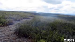 Lava goes into crack in East Rift Zone