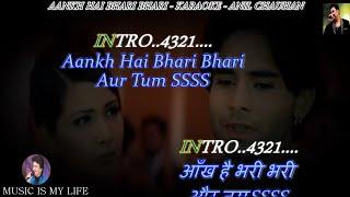 Aankh Hai Bhari Bhari Karaoke With Scrolling Lyrics Eng. & हिंदी