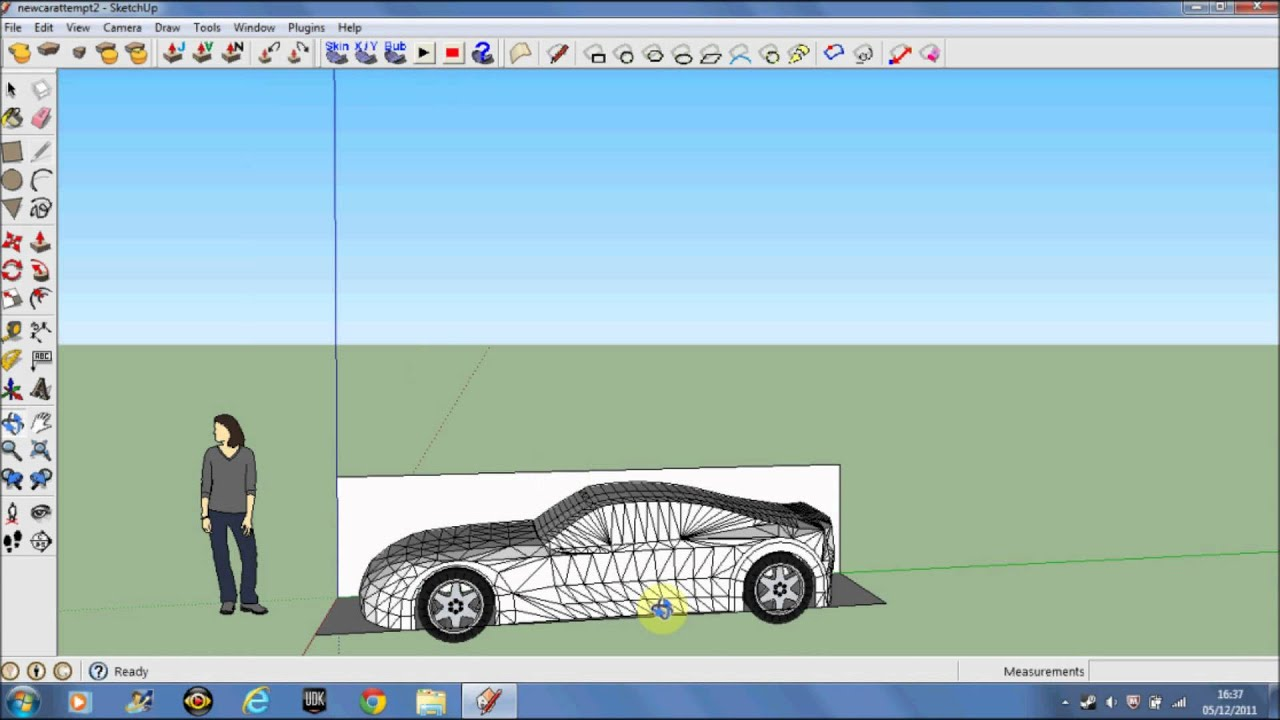 Making A Car In Google Sketchup 8 Pt 2 5 Youtube