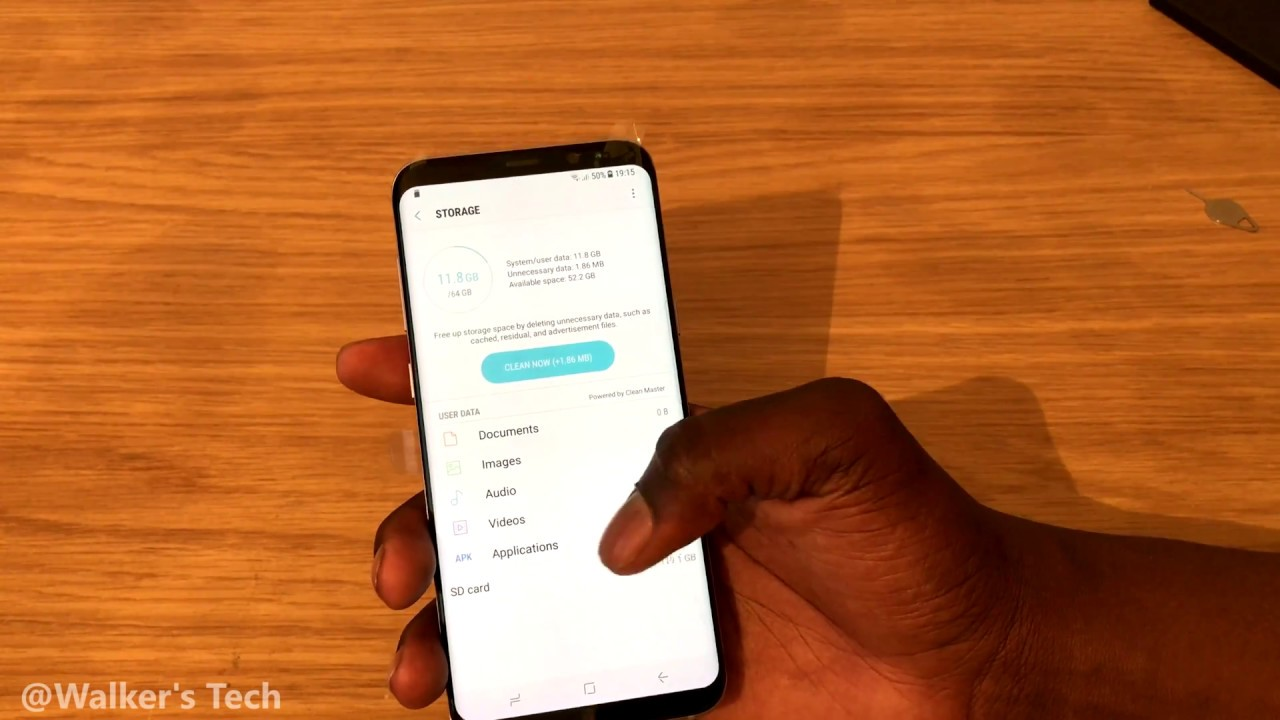 Samsung Galaxy S8 Plus Default Storage Out The Box