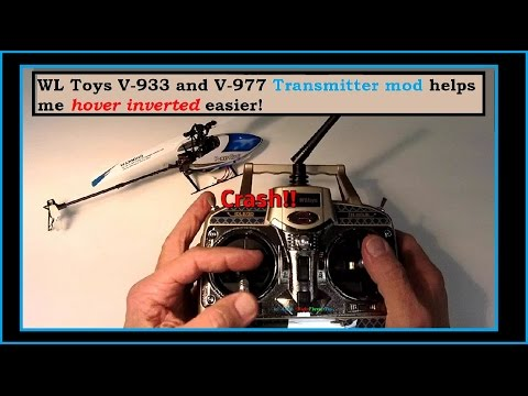 WL Toys V-977 & V-933 TX Mod made my Inverted Hovering easier to do!  TX Switches explained.