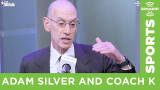 Adam Silver and Coach K on the Future of the G League & the NCAA
