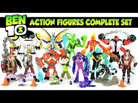 Every Ben 10 Action Figure 2016 Reboot W/ Dr. Animo Upgrade Stinkfly Overflow & Wildvine Unboxing