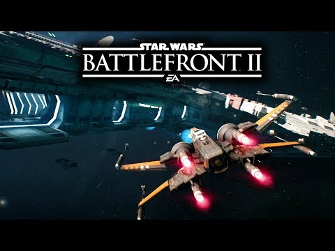 Star Wars Battlefront 2 - New Gameplay! Poe Dameron's Ship! The Black One Walkthrough!