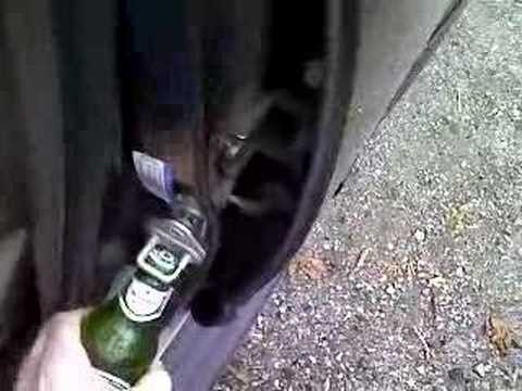 Open A Beer Without Using A Bottle Opener Youtube