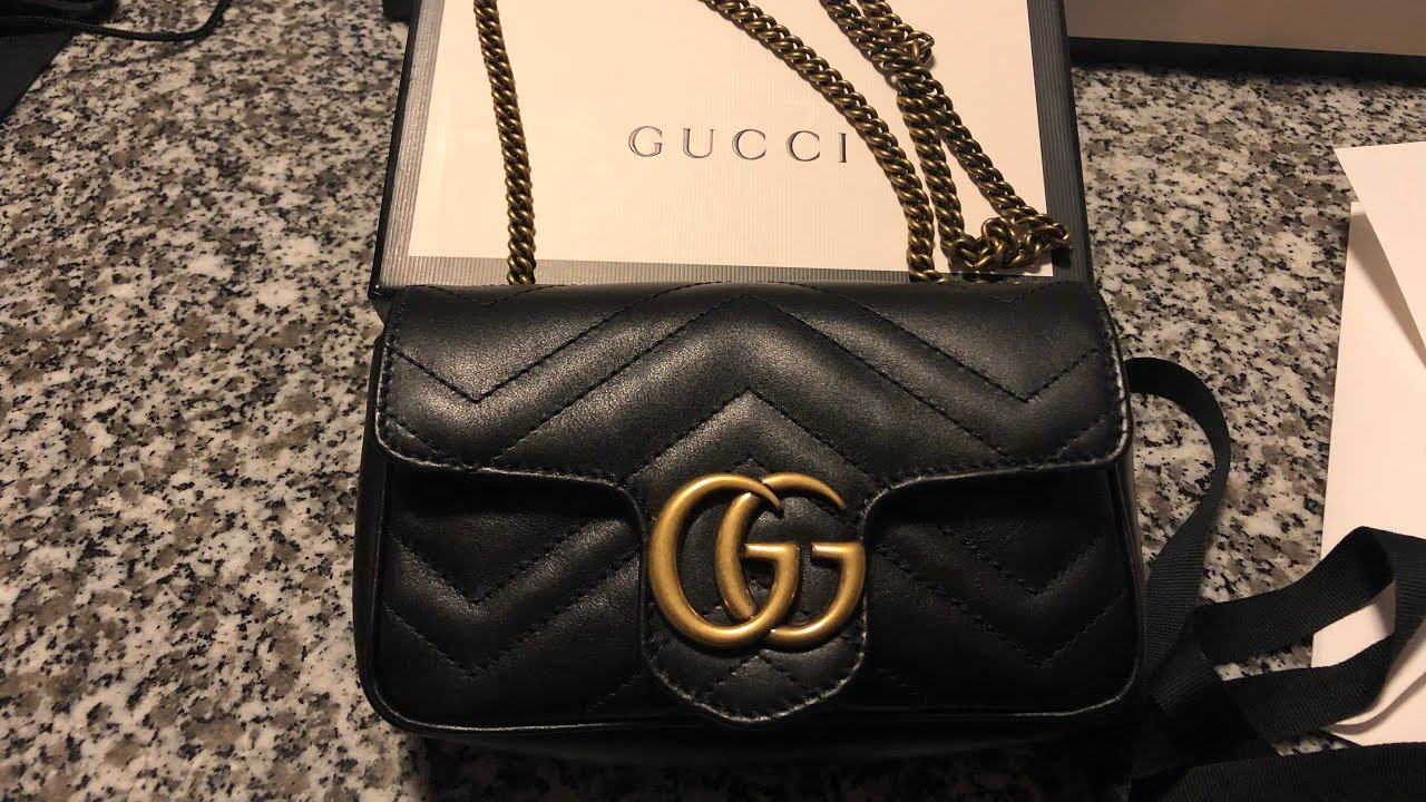 5af8cd236123 Gucci Bag Mini black classique 2018 - YouTube