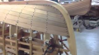 Steaming Wooden Boat Planks