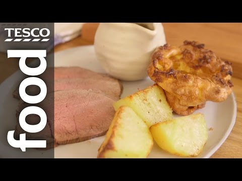 Roast Beef and Yorkshire Pudding Recipe | #TescoHelpSquad with SORTEDfood