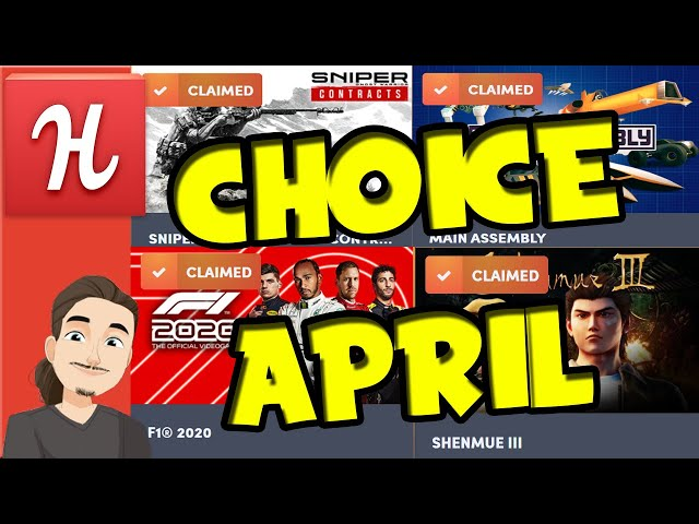 Humble Choice April || Sniper Ghost Warrior Contracts, F1 2020, Shenmue 3, and more!