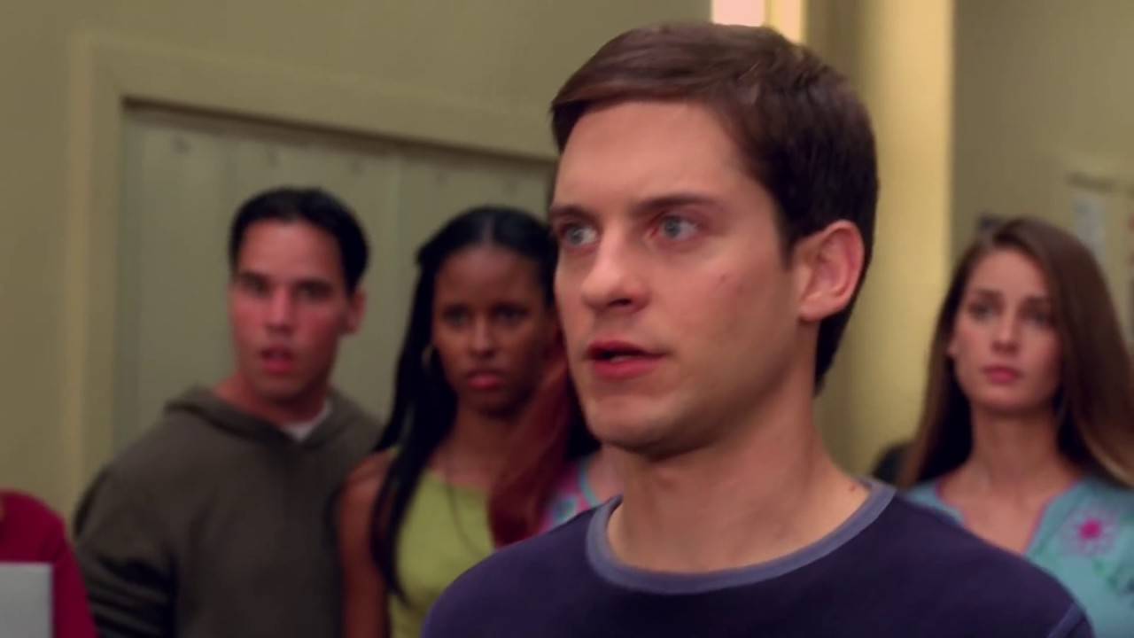 Spider Man 2002 Movie CLIP - School Fight Scene (Peter Parker vs Flash) |  Video