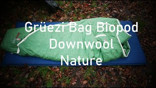 Grüezi Bag Biopod Downwool Nature Schlafsack