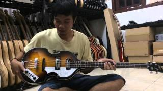 Belajar Chrod Bass dasar /pemula-Pake bass Hofner violin .