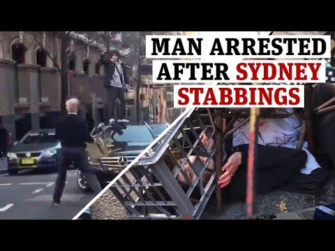 The Love Doctors - Bystanders Take Down Crazy Stabber In Sydney!