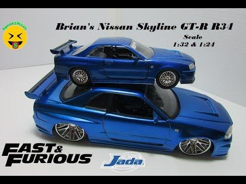 Brian/'s Nissan Skyline GT-R R34 Fast and Furious 1//24 7 Diecast CAR model