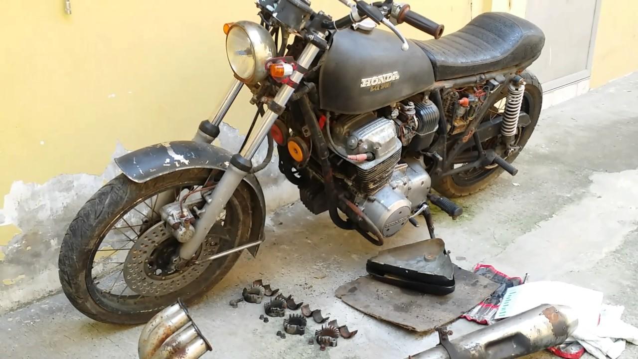 1976 Honda Cb750f Supersport Cafe Racer Project Part 1 Youtube 1975